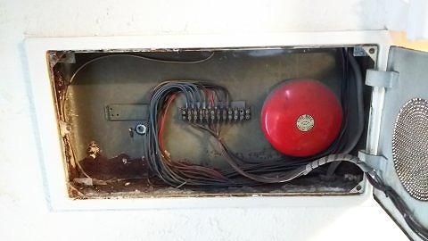 地区音響装置交換工事